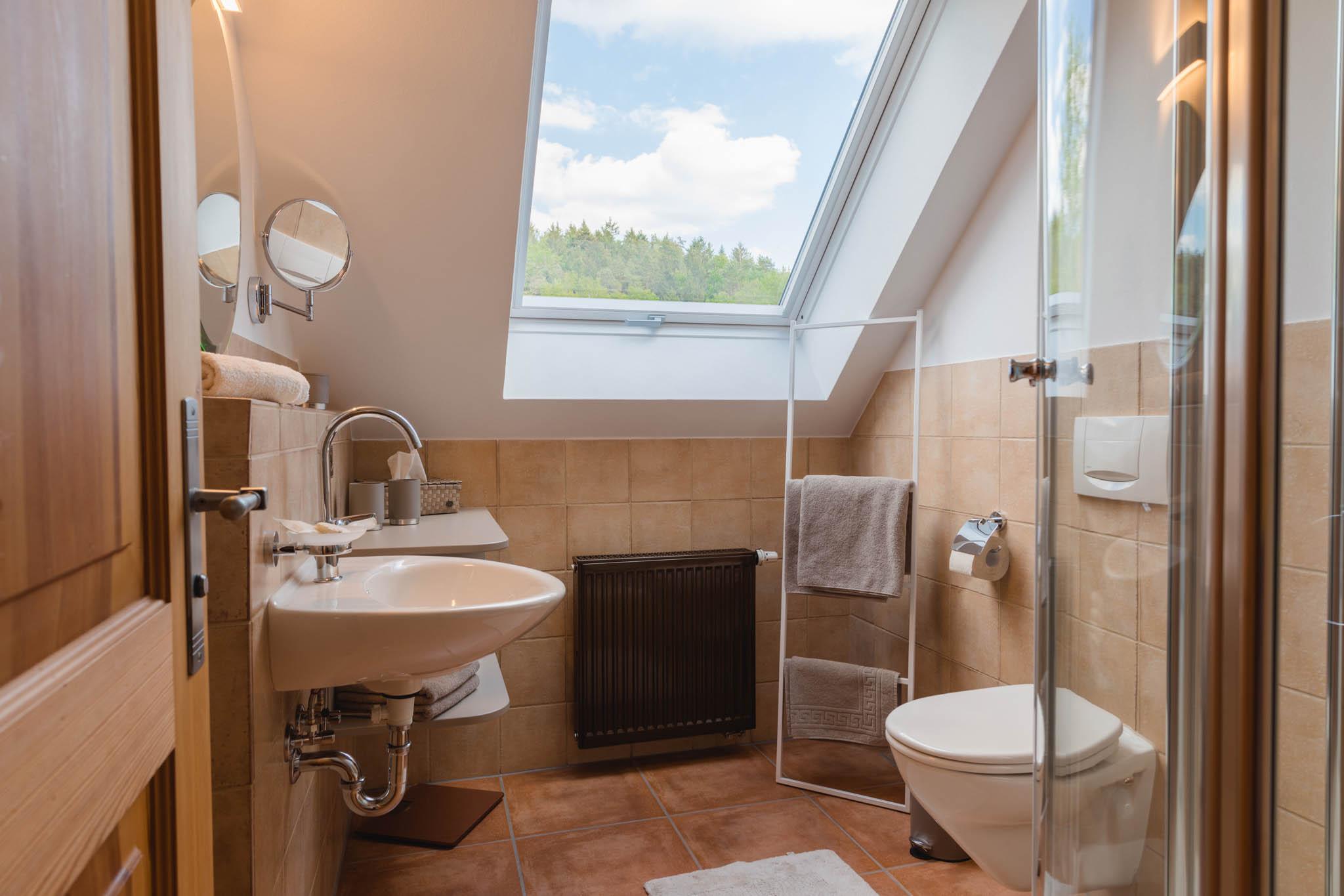 2. Bad, mit Infrarotpaneel in der Dusche, DG